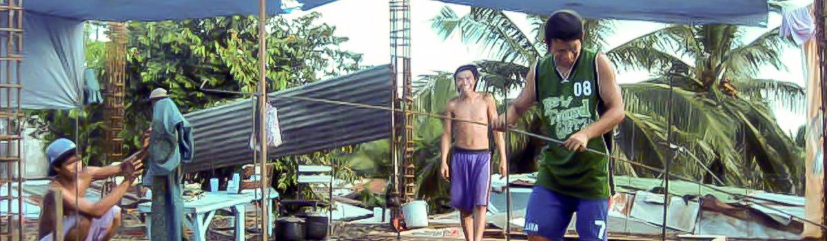 Neues Dach für das Jugendzentrum in Payatas bei Manila / Phillipinen (2009)